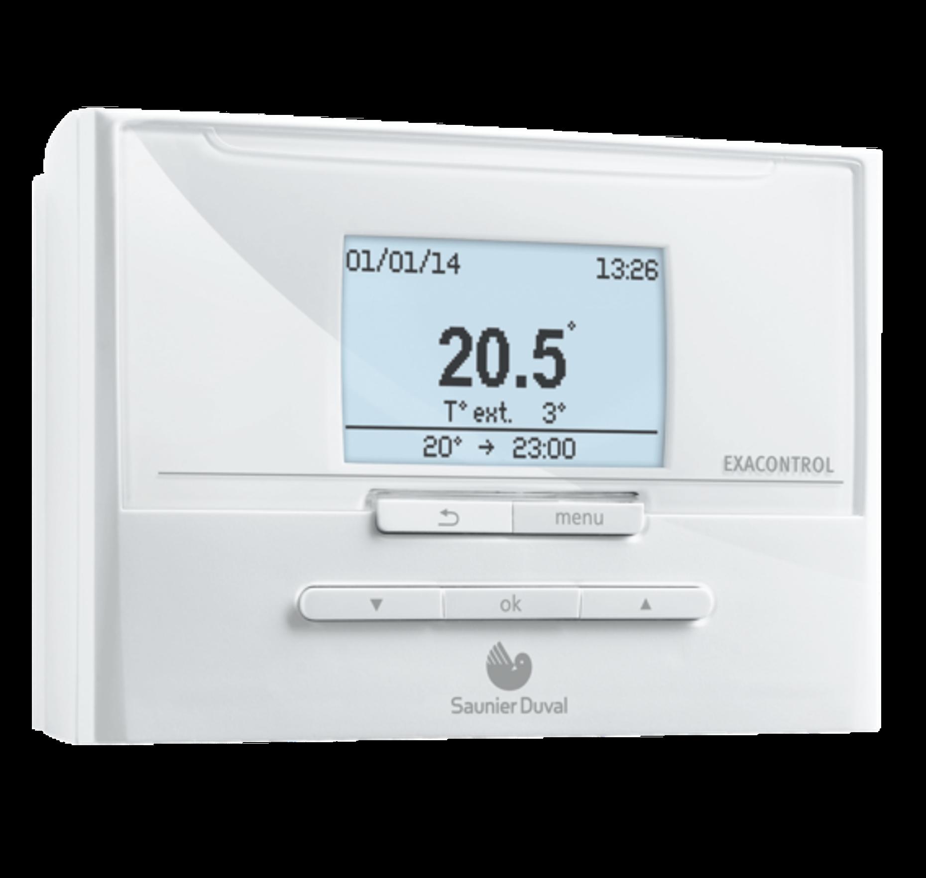 Exacontrol e7 c solutions regulation thermostats pros saunier duval des - Thermostat saunier duval ...