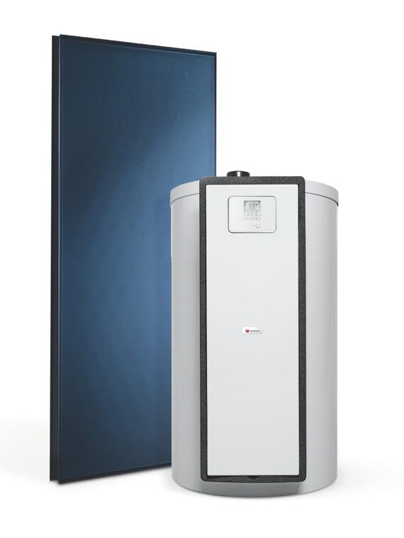 HelioSet 150 litres + panneau solaire - vue de face