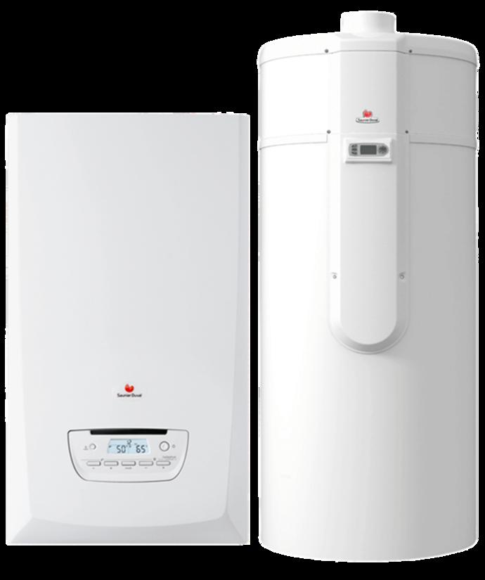 Chaudière à condensation + Chauffe-eau thermodynamique
