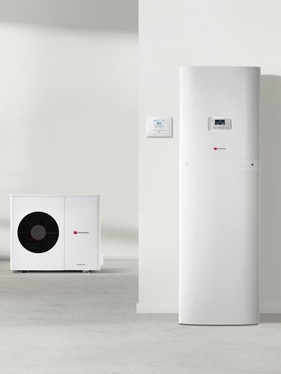 geniaset split pompe chaleur double service air eau split saunier duval. Black Bedroom Furniture Sets. Home Design Ideas