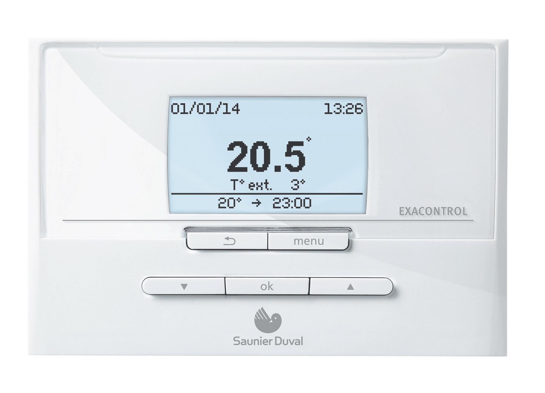 Regulations et thermostats exacontrol e7 c saunier - Thermostat pour chaudiere gaz ...
